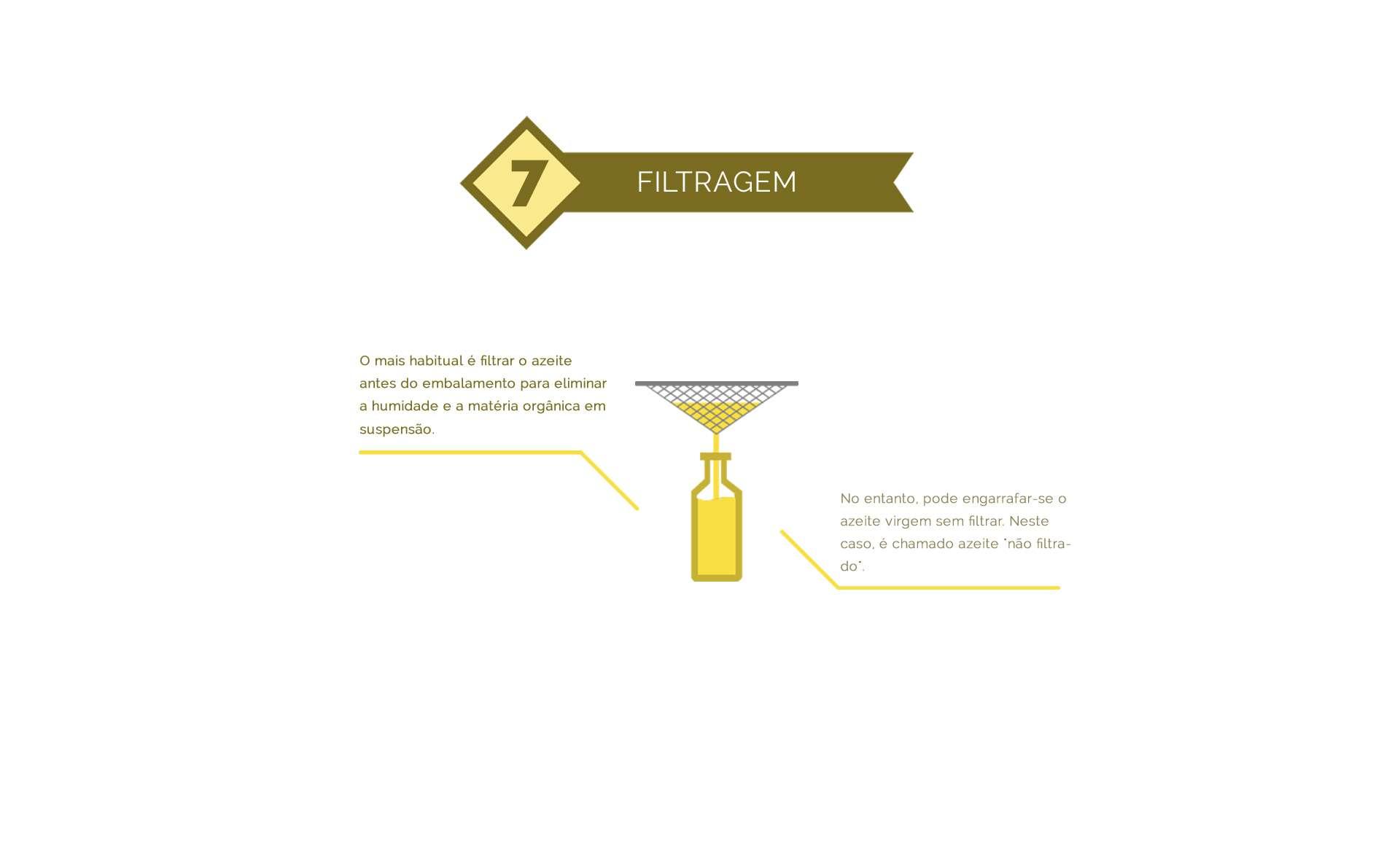filtragem do azeite de oliva
