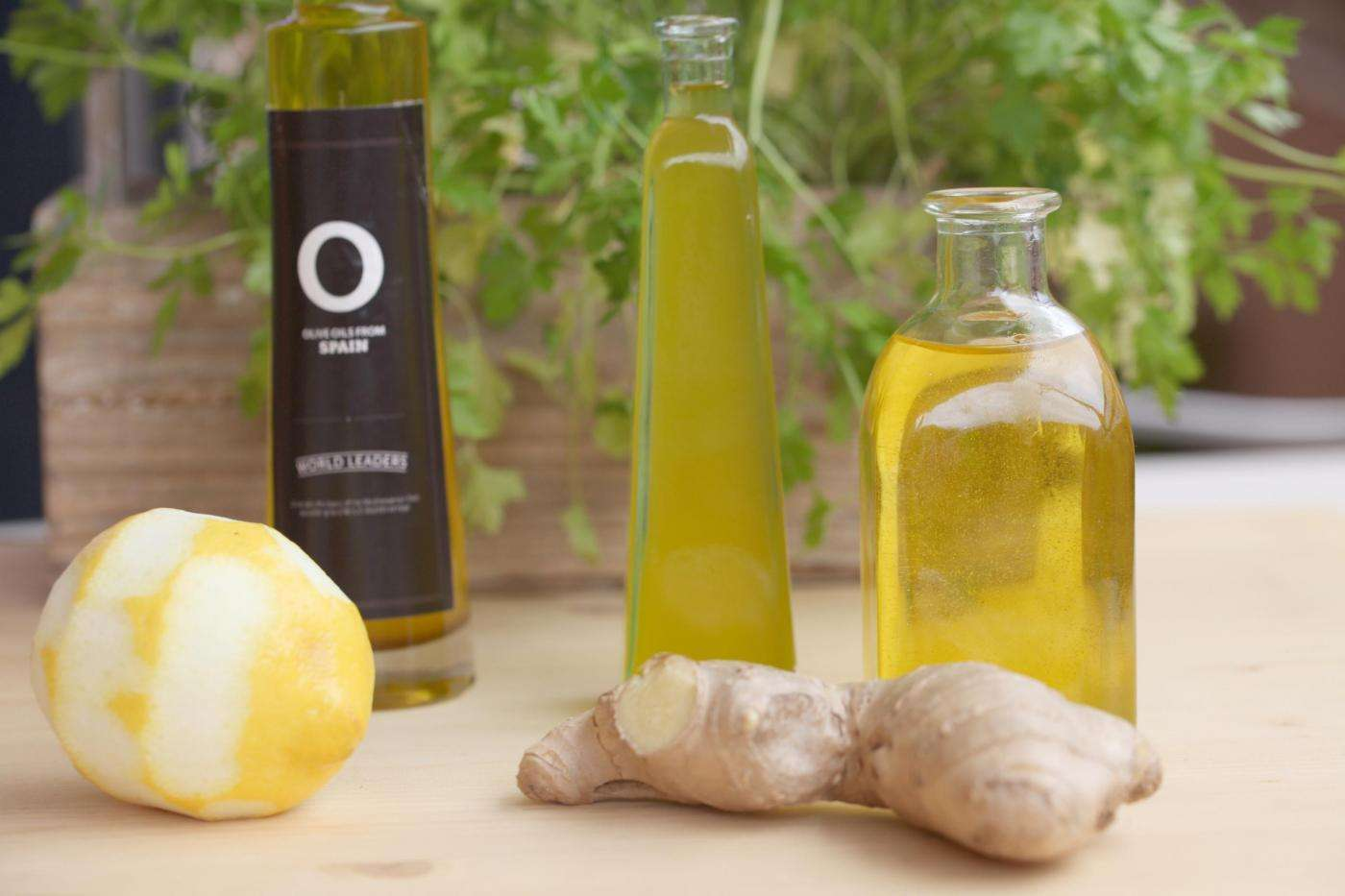 lemon-flavoured oil