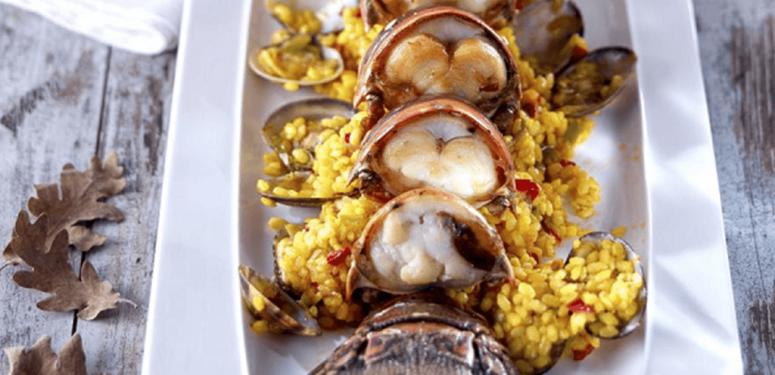 Receita de arroz com lagosta e vôngole