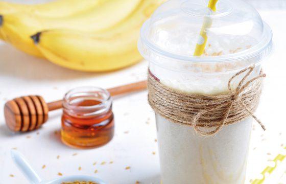 Suco Detox de iogurte, gengibre e banana